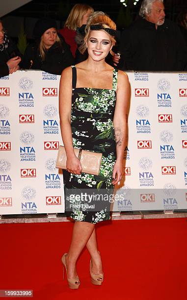Helen Flanagan attends the National Television Awards at 02 Arena on January 23 2013 in London England