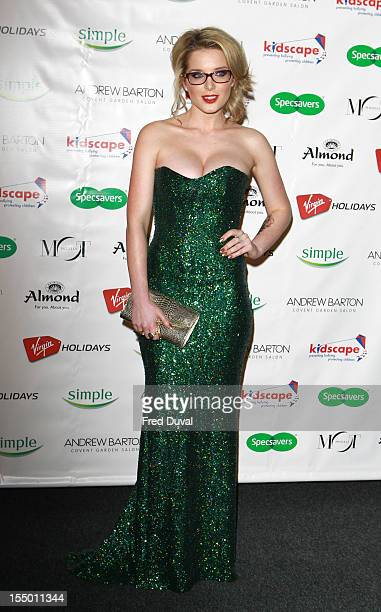 Helen Flanagan attends the spectacle of the year 2012 at Battersea Power station on October 30 2012 in London England