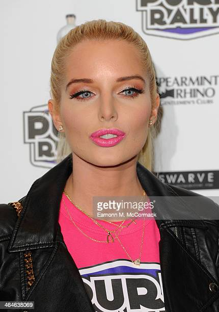Helen Flanagan launches the new 2014 Super Car Rally at Millennium Mayfair Hotel on January 23 2014 in London England