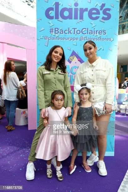 Helen Flanagan Matilda Sinclair Jacqueline Jossa and Ella Osborne attend Claire's Back To School Bash which includes lots of fun activities for the...