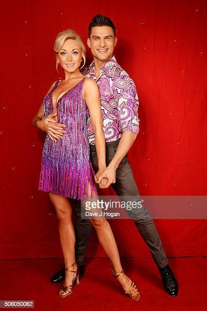 Helen George and Aljaz Skorjanec backstage at the Strictly Come Dancing Live Tour rehearsals Strictly Come Dancing Live Tour opens tomorrow 22nd...