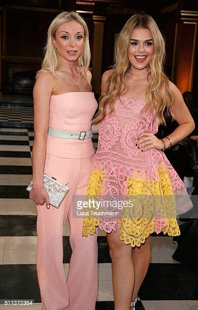 Helen George and Tallia Storm attend the Bora Aksu show during London Fashion Week Autumn/Winter 2016/17 at on February 19 2016 in London England