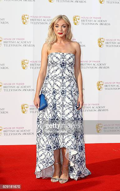 Helen George arrives for the House Of Fraser British Academy Television Awards 2016 at the Royal Festival Hall on May 8 2016 in London England