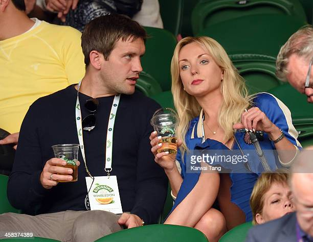 Helen George attends day six of the Wimbledon Tennis Championships at Wimbledon on July 02 2016 in London England