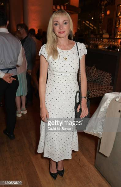 """Helen George attends the press night after party for """"The Light In The Piazza"""" at Skylon on June 18, 2019 in London, England."""