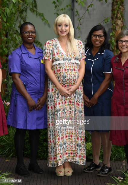 Helen George attends the RHS Chelsea Flower Show on September 20, 2021 in London, England. This year's RHS Chelsea Flower Show was delayed from its...