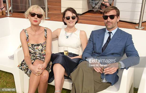 Helen George Charlotte Ritchie and Patrick Grant attend day one of the Audi Polo Challenge at Coworth Park on May 30 2015 in London England