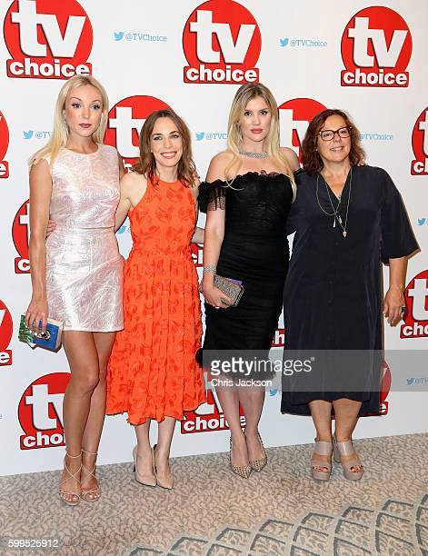 Helen George Laura Main Emerald Fennell and Annabelle Apsion arrive for the TV Choice Awards at The Dorchester on September 5 2016 in London England