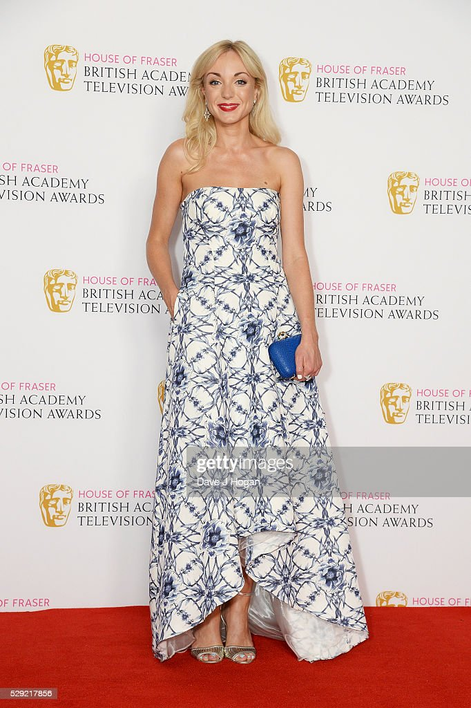 Helen George poses for a photo in the winners room during the House Of Fraser British Academy Television Awards 2016 at the Royal Festival Hall on May 8, 2016 in London, England.