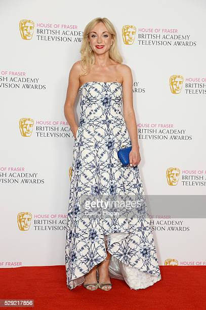 Helen George poses for a photo in the winners room during the House Of Fraser British Academy Television Awards 2016 at the Royal Festival Hall on...
