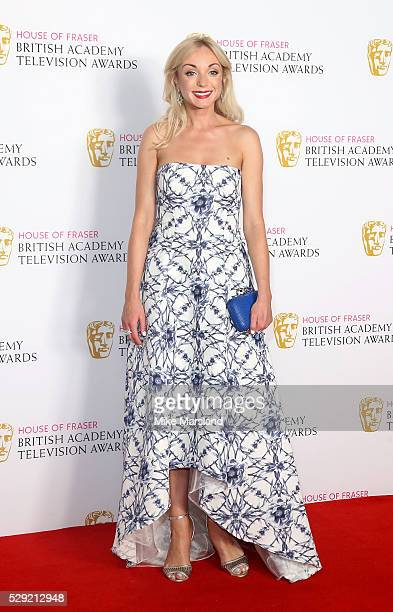 Helen George poses in the winners room at the House Of Fraser British Academy Television Awards 2016 at the Royal Festival Hall on May 8 2016 in...