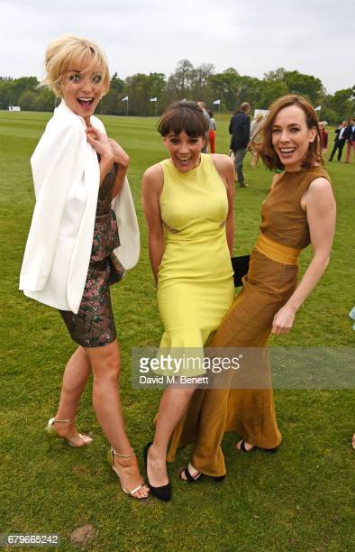 Helen George Vikki Stone and Laura Main attend the Audi Polo Challenge at Coworth Park on May 6 2017 in Ascot United Kingdom