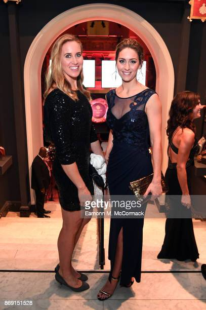 Helen Glover and Amy Williams attend the Team GB Ball at Victoria and Albert Museum on November 1 2017 in London England