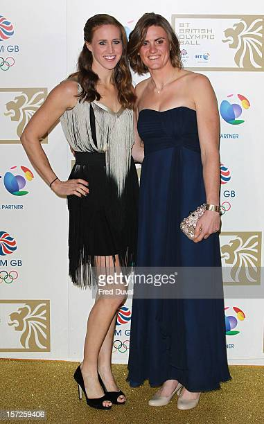 Helen Glover and Heather Stanning attend the British Olympic Ball on November 30 2012 in London England