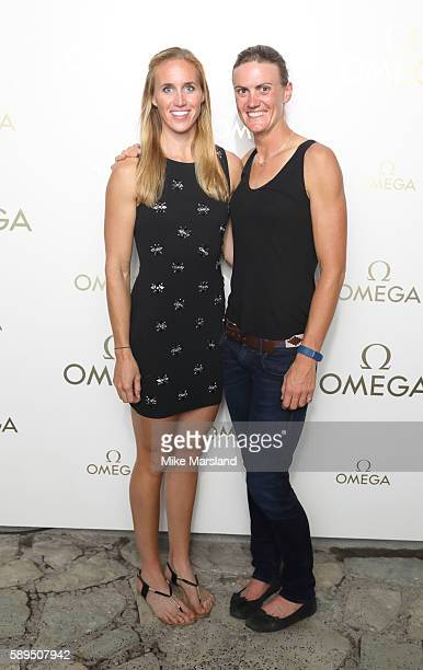 Helen Glover and Heather Stanning attends the Omega House Of Fashion on August 13 2016 in Rio de Janeiro Brazil