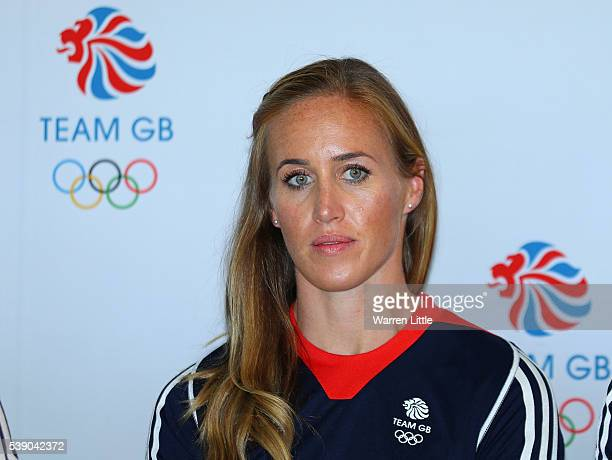 Helen Glover of Great Britain speaks during announcement of Rowing athletes named in Team GB for the Rio 2016 Olympic Games at on June 9 2016 in...