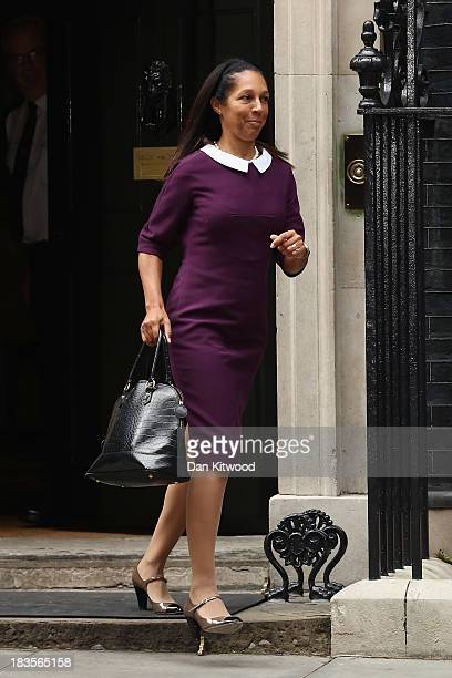 Helen Grant leaves 10 Downing Street on October 7 2013 in London England British Prime Minister David Cameron announced a Government reshuffle today