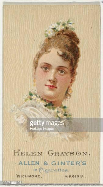 Helen Grayson from World's Beauties Series 2 for Allen Ginter Cigarettes 1888 Artist Allen Ginter