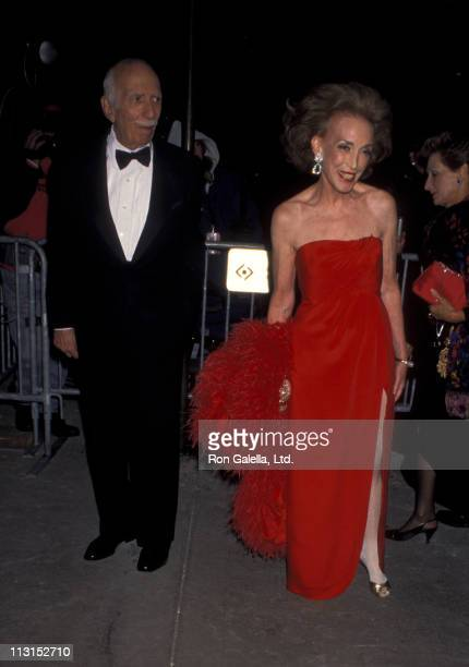 Helen Gurley Brown and David Brown attend 14th Annual Council of Fashion Designers of America Awards on January 30, 1995 at the New York State...