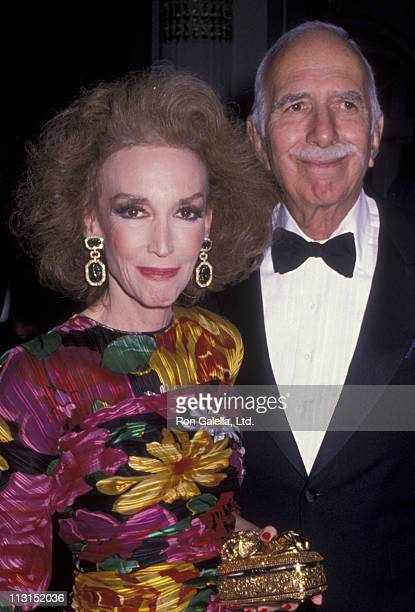 Helen Gurley Brown and David Brown attend Night of 100 Stars Gala on October 29, 1989 at the Plaza Hotel in New York City.