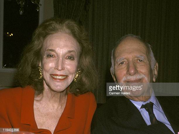 Helen Gurley Brown and David Brown during 2001 Women of The Year Luncheon at The Pierre Hotel in New York City, New York, United States.