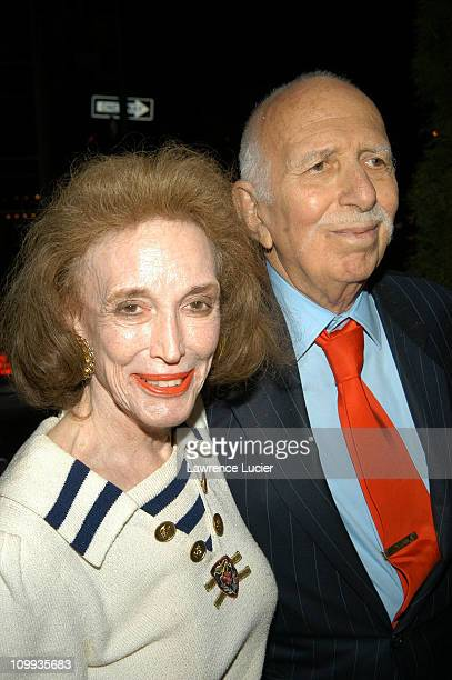 Helen Gurley Brown and David Brown during Anything Else Premiere - Outside Arrivals at Paris Theater in New York City, New York, United States.