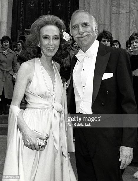 Helen Gurley Brown and David Brown during Patrica Gay and John Kluge Wedding at St. Patricks Cathedral in New York City, New York, United States.