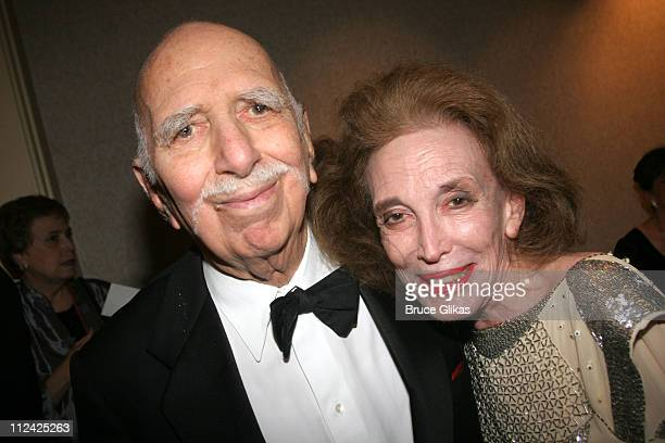 Helen Gurley Brown and David Brown during The Acting Company's 2005 Black and White Masquerade Ball Saluting Jack O'Brien at The Waldorf Astoria in...