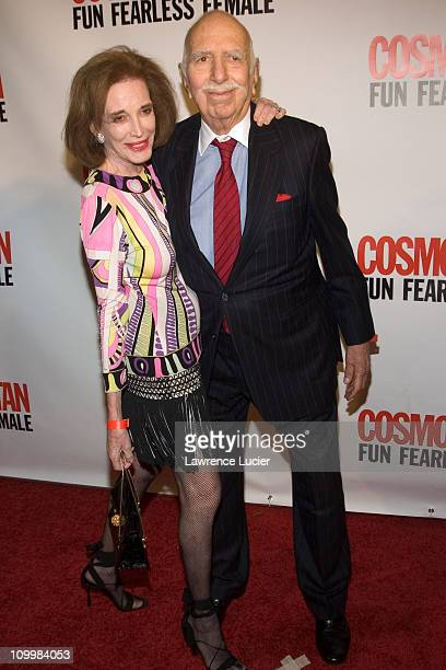 Helen Gurley Brown and John Brown during Cosmopolitan's 40th Birthday Bash at Skylight Studios in New York City, New York, United States.