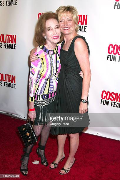Helen Gurley Brown and Kate White, editor-in-chief of Cosmopolitan