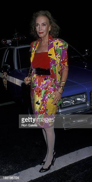 Helen Gurley Brown attends the funeral service for Carter Cooper on July 26, 1988 at St. James Church in New York City.