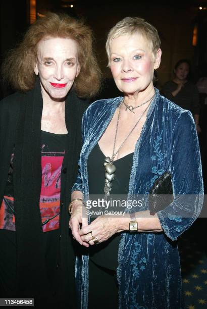 """Helen Gurley Brown, Dame Judi Dench during Weinstein Company Screening of """"Mrs. Henderson Presents"""" at The MGM Screening Room in New York, New York,..."""