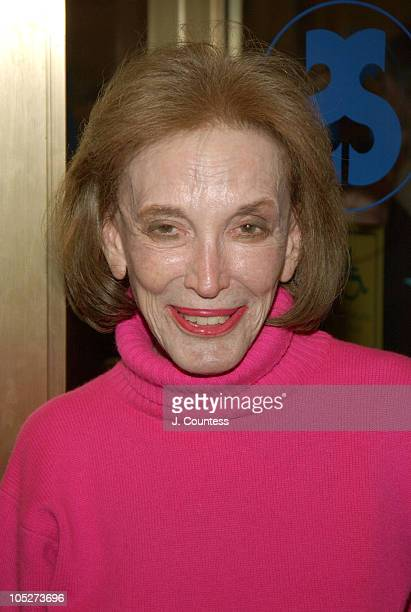 Helen Gurley Brown during Opening Night of 'Sly Fox' on Broadway Arrivals at Ethel Barrymore Theatre in New York City New York United States
