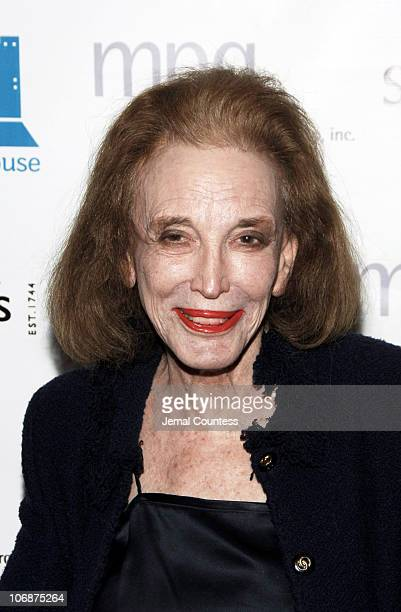 Helen Gurley Brown during Sotheby's Hosts FRANCESCO SCAVULLO: A Photographic Retrospective and Auction to Benefit Fountain House at Sotheby's in New...