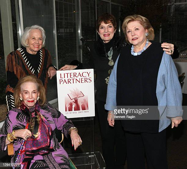 Helen Gurley Brown, Liz Smith, Jackie Rogers, and Barbara Taylor Bradford attend the 27th annual Evening of Readings Pre-Gala kick-off at Michael's...