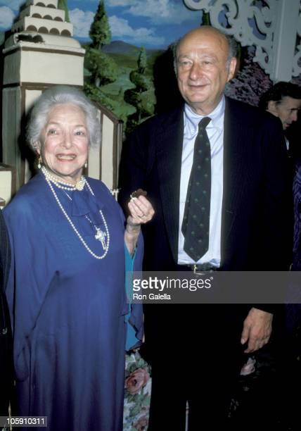 Helen Hayes and Ed Koch during Helen Hayes' 85th Birthday Party October 2 1985 at Tavern on the Green in New York City New York United States