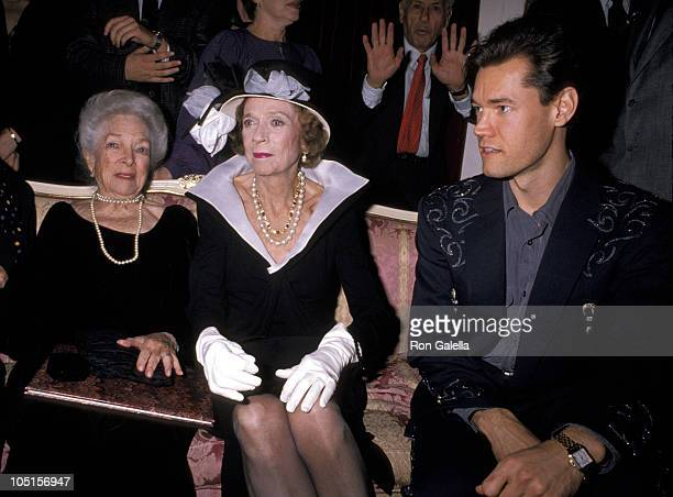 Helen Hayes Brooke Astor and Randy Travis during 90th Birthday Party For Helen Hayes at Plaza Hotel in New York City New York United States