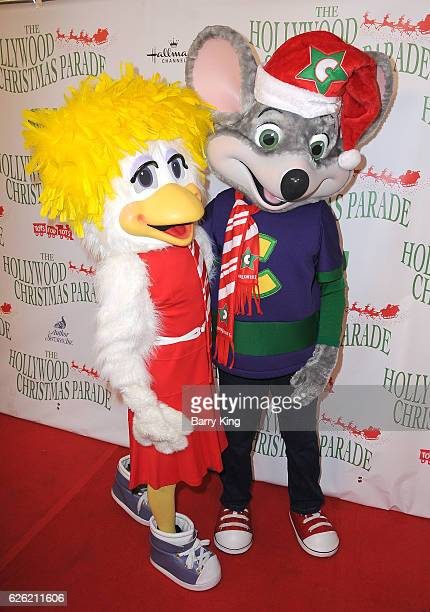 Helen Henny and Chuck E Cheese attend the 85th Annual Hollywood Christmas Parade on November 27 2016 in Hollywood California