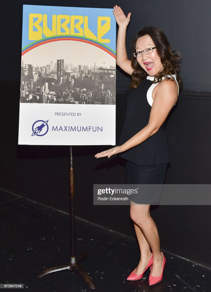 Helen Hong poses for portrait at the MaximumFun.org Comedy Podcast photo call at Dynasty Typewriter at the Hayworth on June 12, 2018 in Los Angeles, California.