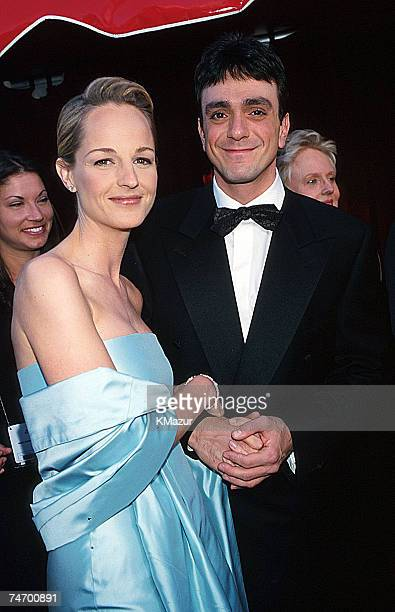 Helen Hunt and Hank Azaria during The 70th Annual Academy Awards Red Carpet at the Shrine Auditorium in Los Angeles California