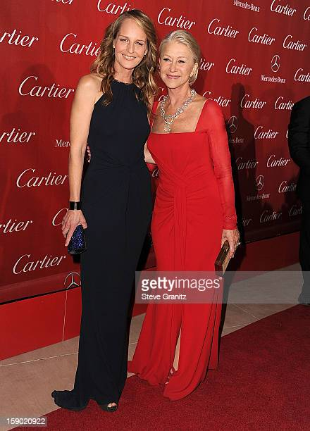 Helen Hunt and Helen Mirren arrives at the 24th Annual Palm Springs International Film Festival at Palm Springs Convention Center on January 5 2013...