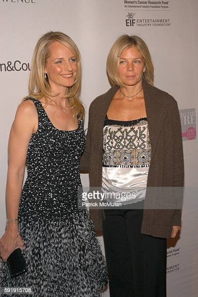 Helen Hunt and Kelly Meyer attend Saks Fifth Avenue launches Key to the Cure campaign benefiing the Entertainment Industry Foundation's Women's...