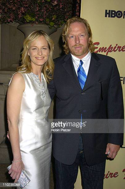 Helen Hunt and Matthew Carnahan during HBO Films Empire Falls New York City Premiere at Metropolitan Museum of Art in New York City New York United...