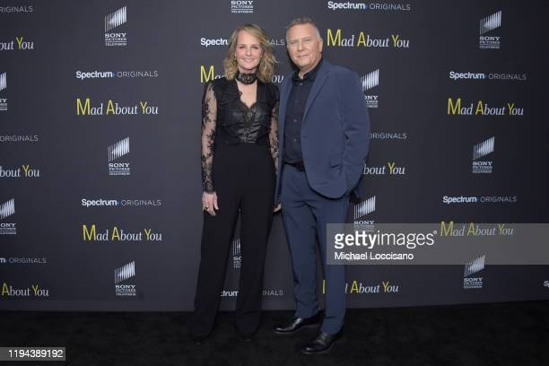 Helen Hunt and Paul Reiser attend the Mad About You red carpet event at The Rainbow Room on December 16 2019 in New York City