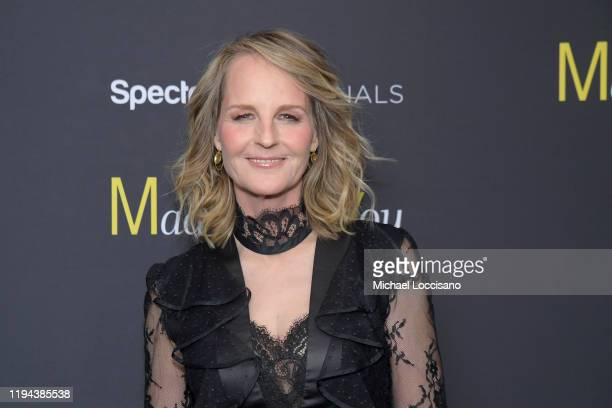 Helen Hunt attends the Mad About You red carpet event at The Rainbow Room on December 16 2019 in New York City