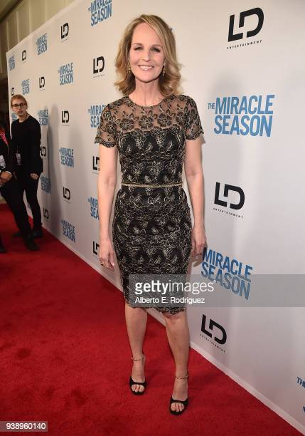 Helen Hunt attends the Premiere Of Mirror And LD Entertainment's The Miracle Season at The London West Hollywood on March 27 2018 in West Hollywood...