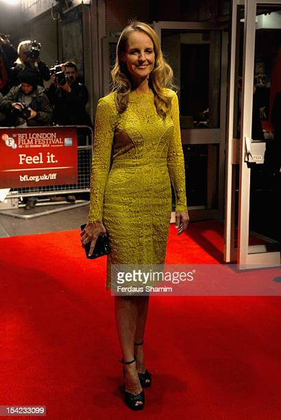 Helen Hunt attends the Premiere of 'The Sessions' during the 56th BFI London Film Festival at Odeon West End on October 16 2012 in London England