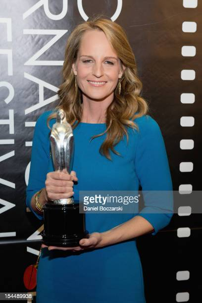 Helen Hunt attends the The Sessions premiere during the 48th Chicago International Film Festival at the AMC River East 21 movie theater on October 20...