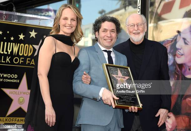 Helen Hunt Gustavo Dudamel and John Williams attend the ceremony honoring Maestro Gustavo Dudamel with star on the Hollywood Walk of Fame on January...