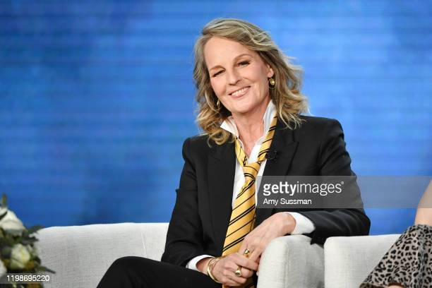 Helen Hunt of Masterpiece World on Fire speaks during the PBS segment of the 2020 Winter TCA Press Tour at The Langham Huntington Pasadena on January...